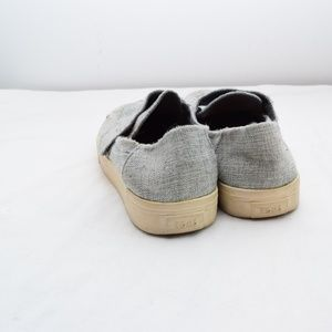 Toms Shoes - Women's Toms Altair Slip On Gray Woven Loafers 8